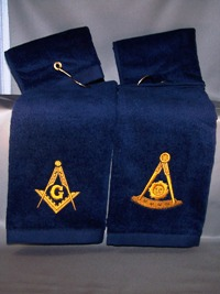 Embroidered Masonic Golf/Sport Towels