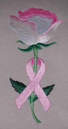 Embroidered Awareness Rose