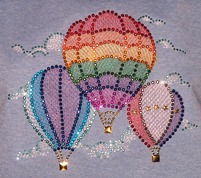 Hot Air Ballons with Embroidery