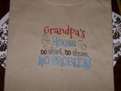 Embroidered Grandpas House T-Shirt