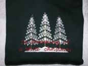 Embroidered White Christmas