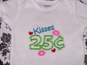 Embroidered Kisses Infant Bodysuit