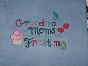 Embroidered Grandmas Moms with Frosting