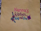 Embroidered Nanas Kitchen T-Shirt