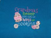 Embroidered Grandmas Never Run Out T-Shirt