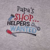 Embroidered Papa's Shop T-Shirt