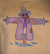 Scarecrow with Embroidery